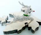 Kenneth Jay Lane Jewels of Christmas Rendier broche voor Franklin Mint met originele verpakking.