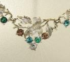 Vintage Pegasus Coro zilverkleurige sieraden set uit de 50er of 60er jaren.