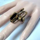 Knut Paulsen Noorwegen, bronzen verstelbare modernistische ring uit de 70er jaren.