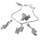 Black Hills (USA) zeldzame vintage sterling zilveren designer sieraden set ( ring, collier en oorbellen), 60er jaren.